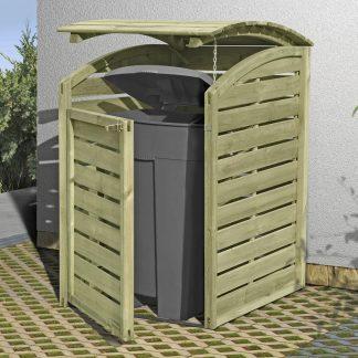 Holz Mülltonnenbox für 1 x 240 Liter Mülltonne kdi