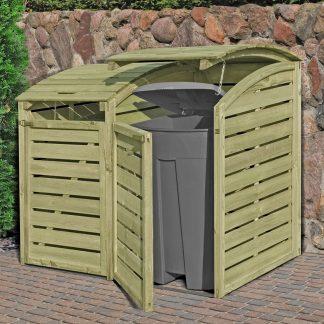 Holz Mülltonnenbox für 2 x Mülltonnen 240 Liter kdi