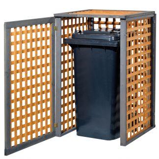 Holz Mülltonnenbox Kaprun für 1x 240Liter Mülltonne