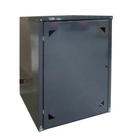 Rollatorgarage / Rollator Box Metall anthrazit 85x82x120cm