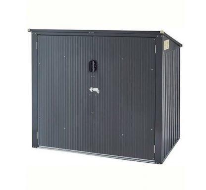 Gartenbox Mülltonnenschrank Mülltonnenbox für 2 Mülltonnen 240L