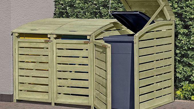 Mülltonnenbox aus Nadelholz (kdi) von ediGarden