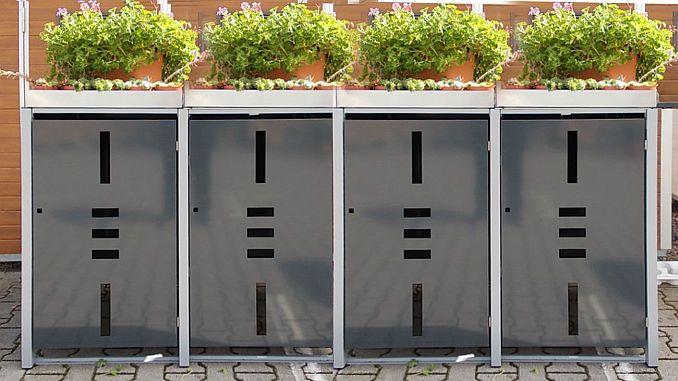 Mülltonnenboxen mit Pflanzwanne/Pflanzdach von ediGarden