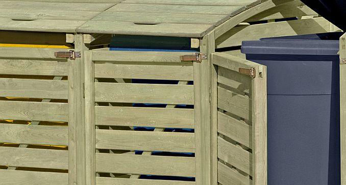 Riegel an Holz-Mülltonnenbox von ediGarden